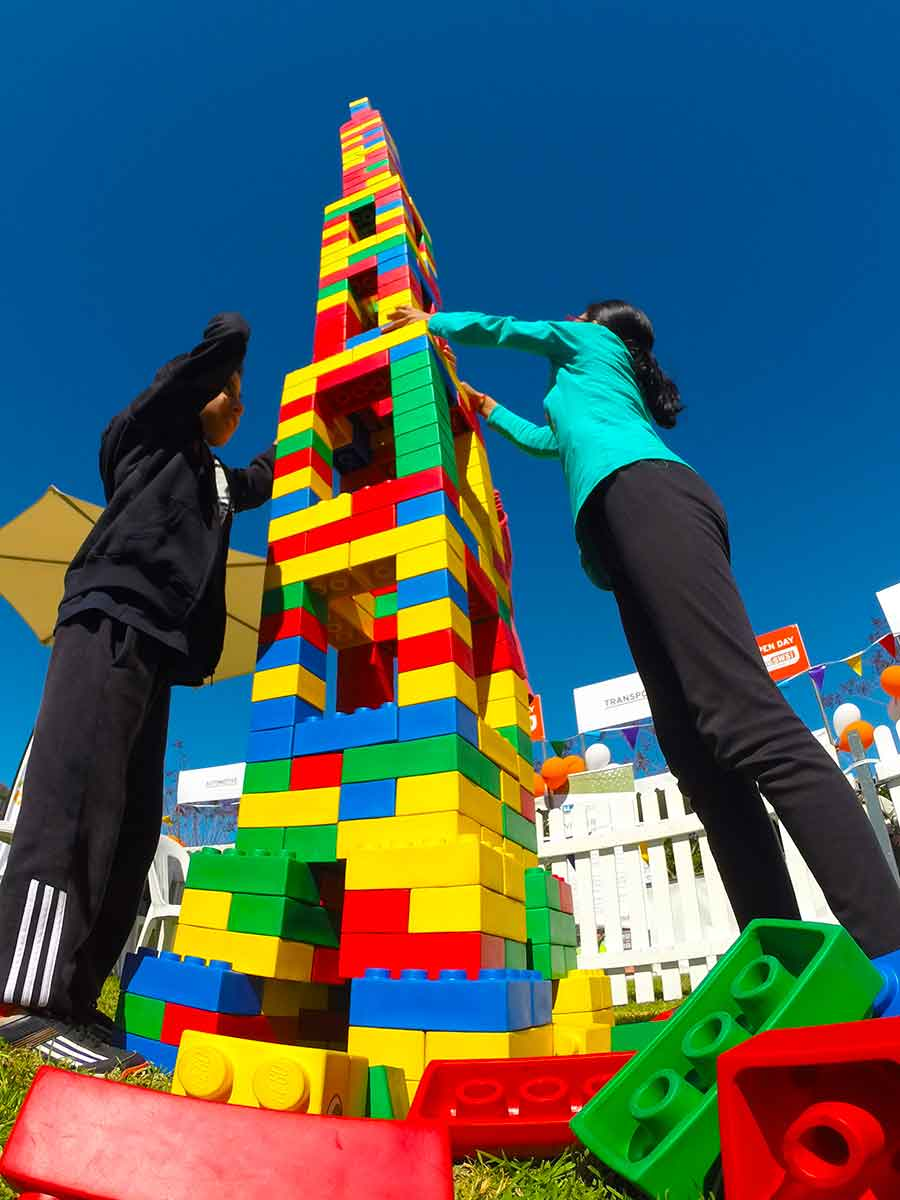 giant lego tower